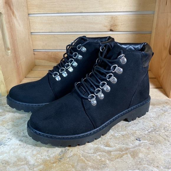 Shoes   Womens Black Tie Up Boots